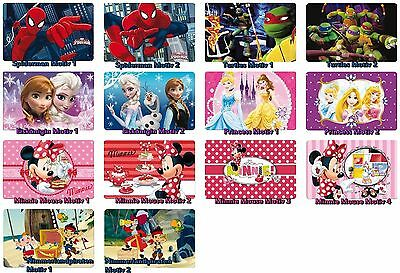 3D Platzdeckchen Tischset Eiskönigin Turtles Spiderman Jake Piraten Minnie Mouse