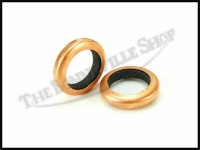 Triumph Norton Bsa Uk Made Copper 'donut' Petcock Seal Washer Set Pn# Tbs-9000
