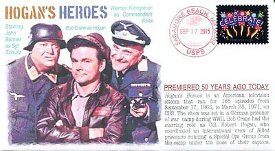 """COVERSCAPE computer designed 50th debut of TVs """"Hogan's Heroes"""" event cover"""