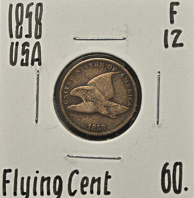 1858 United States One Cent F-12