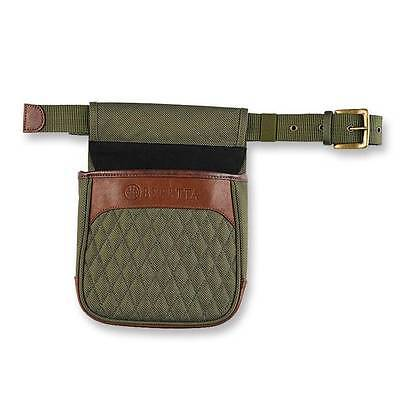 Beretta B1 Signature Shell Pouch Green Canvas w/ Leather Details BS8535800715