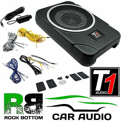 """8"""" 20cm 900 WATTS Amplified Active Underseat Car Subwoofer Sub & Bass Controller"""