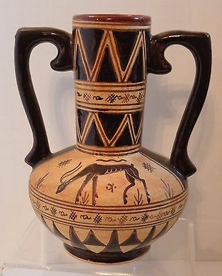 "dsa 212 ANCIENT GREEK ATTIC POTTERY REPRODUCTION Epidaurus Urn 6 1/2"" h"