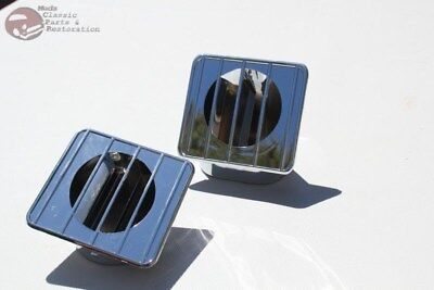 67-72 Chevy GMC Truck Chrome Inside Dash Defroster Duct Vents Right Left Set New
