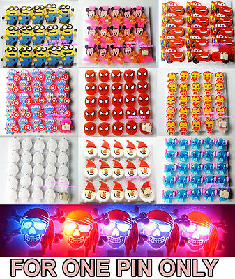 1pc Flash LED Light Glow Badge Pin Brooch Kid Costumes Birthday Xmas Party Favor