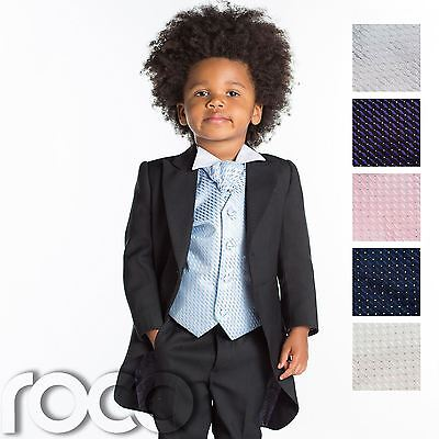 Baby Boys Tail Suit, Baby Boys Black Suit, Page Boy Suit, Baby Boys Suit