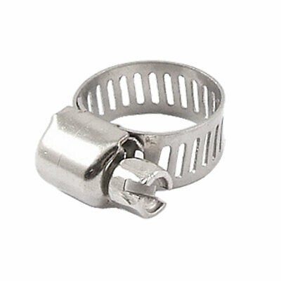 """5/16"""" Width Stainless Steel Band Adjustable Worm Gear Hose Clamp 9-16mm"""