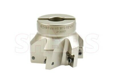 "Shars 2-1/2"" 90° Indexable Face Mill Cutter Use Apmt Apkt 33 New $253.00 Off"