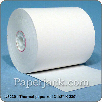"#5230, Thermal Paper Rolls, 3 1/8"" x 230' - Case of 50 rolls"