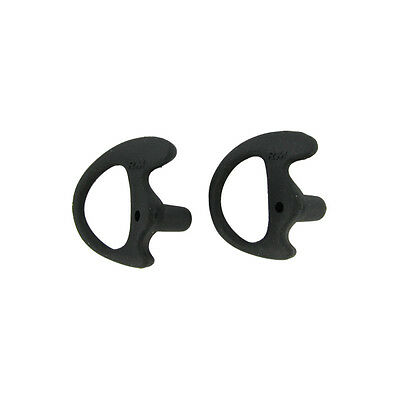 Black Replacement Large Earmold Earbud Right Side Two-Way Radio Audio 2 Pack