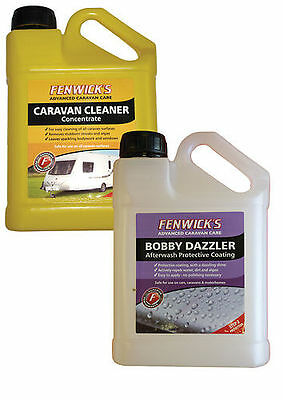 Fenwicks Twin Pack, 1x Caravan Cleaner 1L & 1x Bobby Dazzler Afterwash 1L