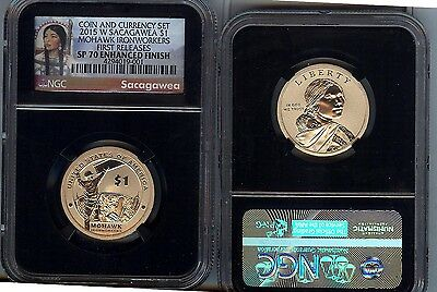 2015-W  ENHANCED Sacagawea NGC SP70 - from the COIN & CURRENCY SET