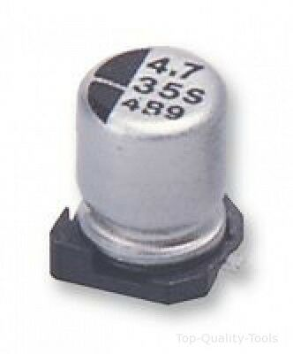 SMD Aluminium Electrolytic Capacitor, Radial Can - SMD, 47 µF, 50 V, HA Series
