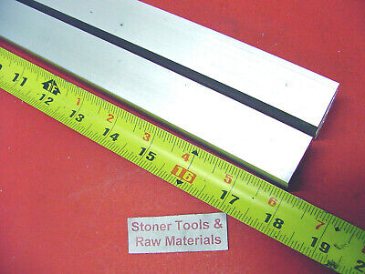"2 Pieces 1-1/2"" X 1-1/2"" ALUMINUM SQUARE 6061 T6511 SOLID FLAT BAR 18"" long 1.50"
