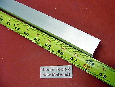 """1"""" X 1"""" ALUMINUM 6061 SQUARE BAR 48"""" long T6511 1.000"""" Solid New Mill Stock"""