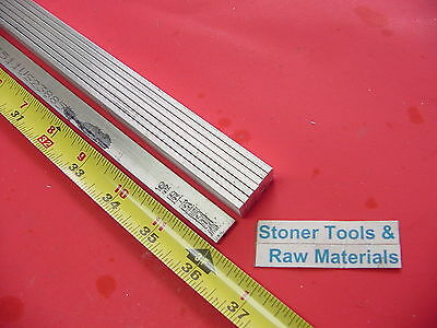 "8 Pieces 1/8"" X 1/2"" ALUMINUM 6061 FLAT BAR 36"" long T6511 .125"" New Mill Stock"