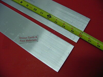 "2 Pieces 1/2"" X 3"" ALUMINUM 6061 FLAT BAR 16"" long T6511 Plate Mill Stock"