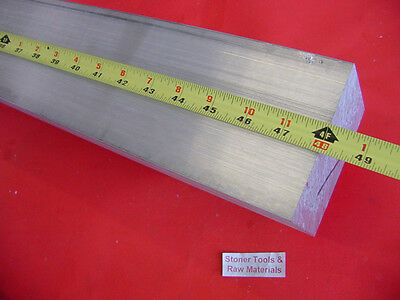 "3"" X 4"" ALUMINUM 6061 FLAT BAR 48"" long SOLID T6511 3.000"" Plate Mill Stock"