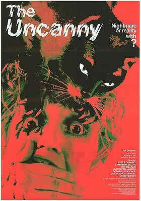 THE UNCANNY original 1977 HORROR movie poster CATS/PETER CUSHING/SAMANTHA EGGAR