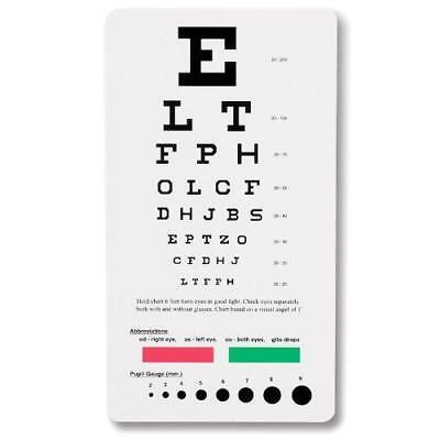Prestige Medical 3909 Snellen Pocket Eye Chart New