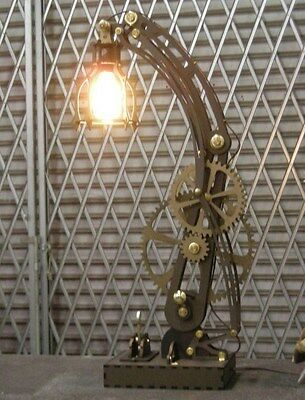 Steampunk LASER projects on CD dxf format files for CNC cutting. Lamp, book ends