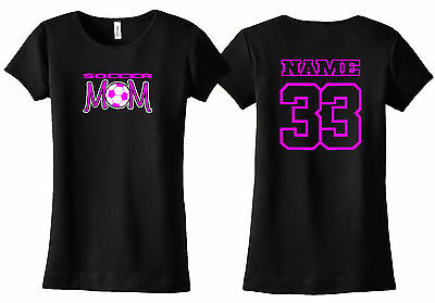 Soccer Mom Personalized Shirt Custom Name & Number Youth Futbol Ayso Rush