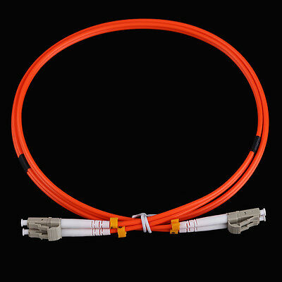 SN9F LC to LC Fiber Patch Cable Cord Jumper Duplex MM 62.5/125 1M 3.0mm LC-LC