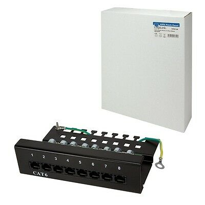 LOGILINK NP0016B 8 PORT CAT6 PATCH PANEL UTP SCHWARZ 250 MHz 8-FACH VERTEILER