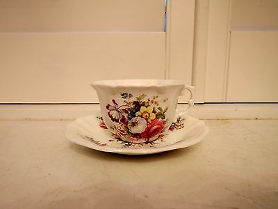 Vintage Hammersley Lady Patricia Cup & Saucer Pink Roses Bone China