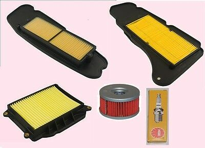 Service kit- Plug Air & Oil filters for YAMAHA YP  YP400 Majesty models 2004-14