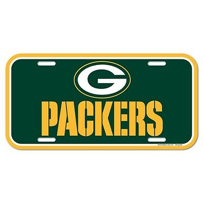 Green Bay Packers Team Logo Car Auto License Plate Tag Nfl Football