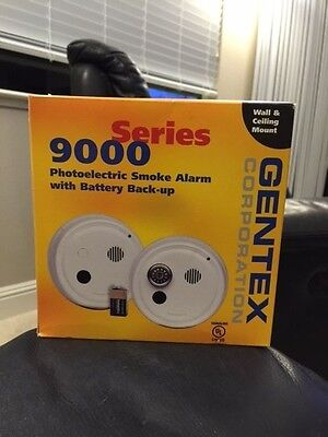 Gentex Series 9000 9120T Photoelectric Smoke Alarm With Battery Back-Up New!!!