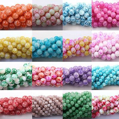 50Pcs Czech Crystal Glass Colorful Floral Jewelry Loose Spacer Beads 6/8/10mm