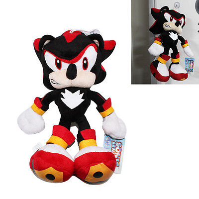 The HEDGEHOG Sonic Shadow 26cm Soft Plush Toy Doll