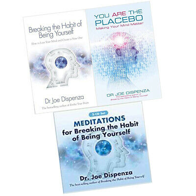 Dr Joe Dispenza Collection 2 Books Set With Audio CD, You Are the Placebo, New