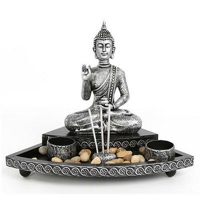 29Cm Buddha Incense Stick Holder Tea Light Candle Decoration Gift Stones Relax
