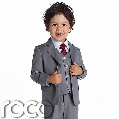 Baby Boys Grey Suit, Page Boy Suits, Baby Boys Wedding Suit, 1 - 14 years