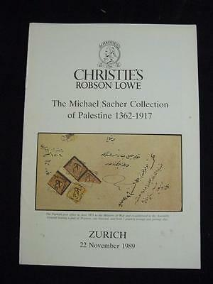 Christies Lowe  Auction Catalogue Preview 1989 Palestine 'sacher' Collection