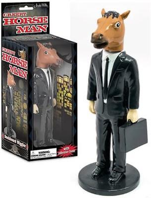 Dashboard Creepy Horse Man Bobble Head Car Dash Wiggler Figure Accoutrements