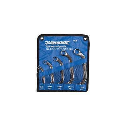 Silverline Obstruction Spanner Set 5pce 8 – 22mm DIY Tools Workshop Garage