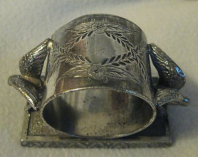 Antique Victorian Silverplate Figural Birds Napkin Ring Toronto S.P. Co. 1144