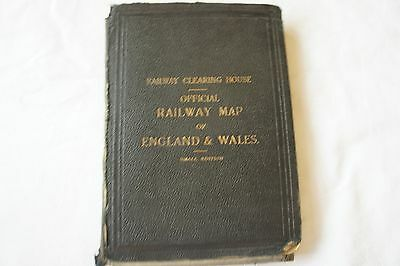 1926 Railway Clearing House Railway Map of England & Wales Linen Backed