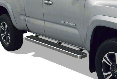 """Premium 4/"""" Black iBoard Side Steps Fit 05-20 Toyota Tacoma Double Cab Crew Cab"""