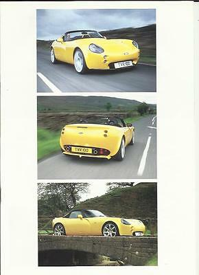 TVR TAMORA,TUSCAN,TUSCAN 'S',CERBERA,T400R AND T440R BROCHURE EARLY 2000's