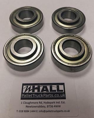 x4 6204ZV bearings (20X47X15mm) for pallet trucks wheels -EASY TO REMOVE TANGLES