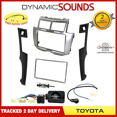 Double Din Car CD Stereo Fascia Facia Fitting Kit for Toyota Yaris (2007>)