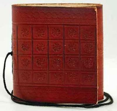 "2.75""x3"" Ultra Mini Leather Pocket Size Book of Shadows, Journal, Diary!"