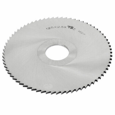 HSS Slitting Saw Cutting Disc 125mm OD 2.5mm Thickness 27mm Inner Dia