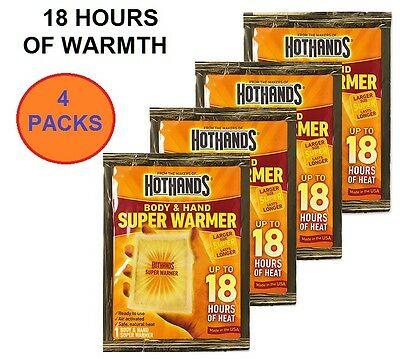 Hothands Hand & Body Super Warmer Individual Pack Up To 18Hrs Of Heat Hh1Ud240F