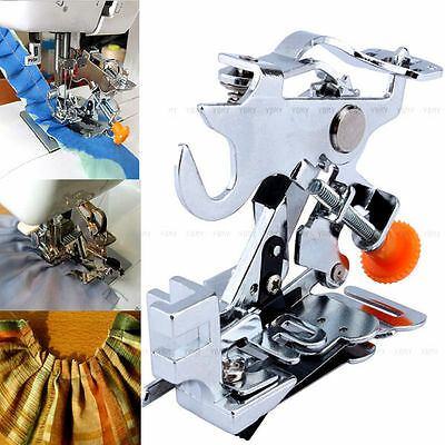 Multifunction Ruffler Presser Foot Low Shank Pleated Sewing Machine Attachment
